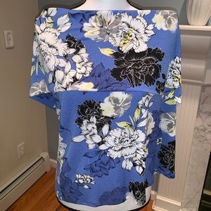 Jennifer Lopez Off The Shoulder Top Floral Size XL